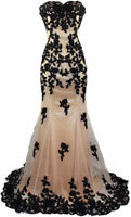 Sweetheart Lace Long Prom Dress Mermaid Evening Formal Party Ball Gown Custom