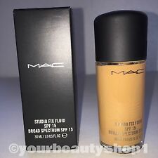 New Mac Foundation Studio Fix Fluid Foundation  SPF 15 NW40 100% Authentic