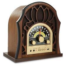 Pyle Punp37 Vintage Style Bluetooth Radio - Classic Design Stereo Speaker System