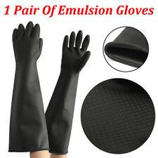 Haushaltshandschuhe 60cm Extra Lang Gummihandschuhe Natur Rubber Gloves Chemica