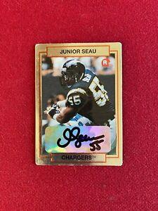 "1990, Junior Seau, ""Autographed"" (JSA) ""HI-PRO"" ROOKIE Card (Scarce) Chargers"