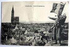 """Ancienne carte postale 14 / 18, STRASBOURG, """" Nous l'y planterons """", voir photos"""
