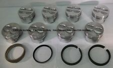 Mercruiser Chevy Marine 5.7L/350ci Flat Top Pistons MOLY Rings 040 260 280 255 +
