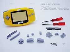 Amarillo Nintendo Game Boy Advance Gba Carcasa Carcasa Funda Shell Destornillador House