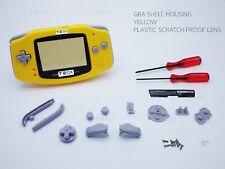 Yellow Nintendo Game Boy Advance GBA Casing Housing Case Shell Screwdriver House