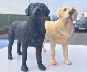 Miniature Standing Labrador Statue - Golden Labrador Dog Black Labrador Ornament