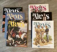 LOT 6 MAN AT ARMS Magazines Complete Year 1989 RIFLE HANDGUN SHOOTING SWORD NRA