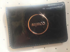 Mimco Enamour black card pouch wallet purse patent leather Authentic new