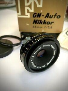 Nikon GN Auto Nikkor 45mm F2.8 Prime Lens Nippon Kogaku