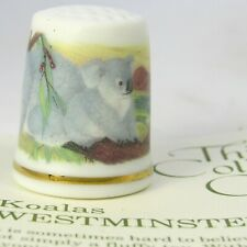 THIMBLE COLLECTORS CLUB, KOALAS BY WESTMINSTER CHINA, AUSTRALIA