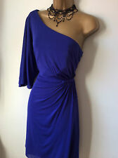 Coast stunning royal blue one shoulder dress sz 12 14 Vgc