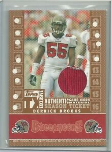 2007 Topps Derrick Brooks Game Used Jersey 142/199