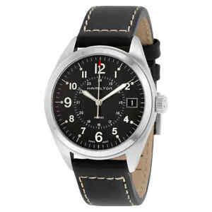 Hamilton Khaki Field Black Dial Black Leather Watch H68551733