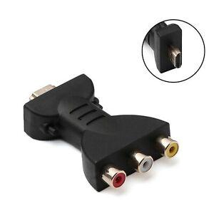 Video Audio Adapter HDMI Stecker auf 3x Chinch Buchse Konverter für TV #096