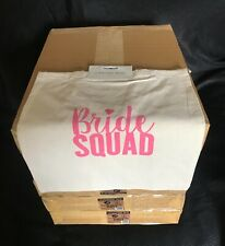 Clearance Sale 24pack/1box Canvas Bag Eco Cotton Hen Party Bag Bride Squad Bag