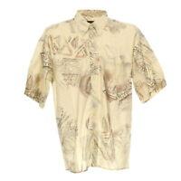 Kurzarmhemd Vintage Shirt Größe L Freizeit Hemd Retro Print Button Down Kragen