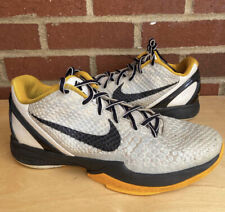 Nike Zoom Kobe 6 VI Steelers White Del Sol Size 8.5 Sneakers Shoes Bryant Yellow