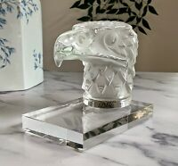 Lalique `Tete D`Aigle' Eagle Head Car Mascot Mint Signed Authentic Figurine