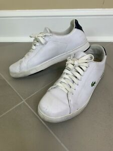 Lacoste Sport Carnaby Evo White Leather Sneakers Men's Size 13