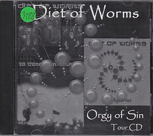 DIET OF WORMS - orgy of sin CD-r