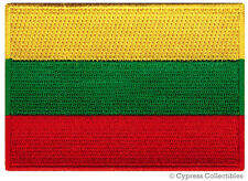 LITHUANIA FLAG embroidered iron-on PATCH LITHUANIAN EMBLEM Baltic States