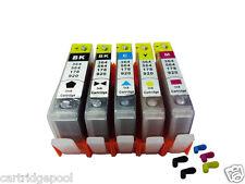 5 HP 564 564XL Refillable ink cartridge for Photosmart 7515 C6350 C6380 C510a
