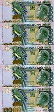New listing Lot St Thomas & Prince, 5 x 10,000 (10000) Dobras, 2004 P-66c, Unc