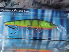 Salmo Suspending Sting Minnow S9SP-HP in HOT PERCH for Walleye/Pike/Bass