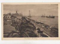 Port Said The Quay Egypt Vintage Postcard 153b