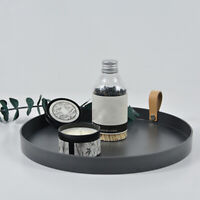 Round Storage Tray Desktop Decorative Round Serving Tray for Jewelry Cosmetic