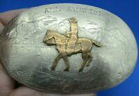 VERY OLD & WORN ~ALL AROUND COWBOY- Throphy Cowboy Western Comstock Belt Buckle