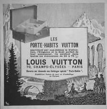 PUBLICITÉ DE PRESSE 1922 LOUIS VUITTON LES PORTE-HABITS - ADVERTISING
