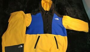 The North Face Graphic 1/2 Zip Hoodie & TKA Glacier Pants (Size Small) (Yellow)