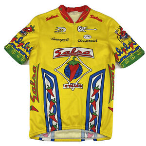 Salsa Cycles Women's Racing Cycling Jersey Red Pepper Size M Medium Yellow