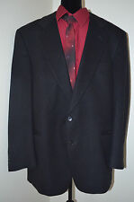Black Cashmere Wool Gentlemans Suit Coat by Vito Rufolo Jacket 46L Italy