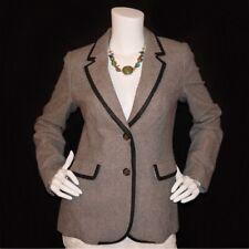 Boden gray wool blend button down collared blazer jacket US 6 UK 10