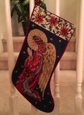 Brand New Angel Needlepoint Christmas Stocking