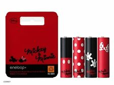 New 4 Disney Sanyo Eneloop AA Batteries Rechargable Ni-MH 1900 mAh Japan