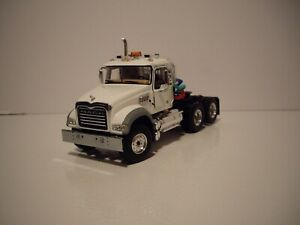 FIRST GEAR 1/50 WHITE MACK GRANITE MP DAY CAB SAME SCALE AS DIECAST MASTER