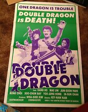 Double Dragon in Last Duel RARE Kung Fu 1-SHEET MOVIE POSTER Kang Ho Mae Lim