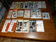 Huge Lot of 20 Packs Clear Stamps Cling Mix lot Fiskars Tim Holtz, Inkadinkado