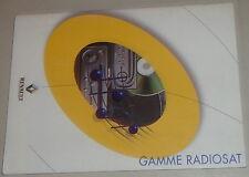 Manual de instrucciones de renault autoradio Gamme radiosat stand 07/2001