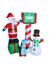 Christmas Inflatable Santa Claus Snowman Penguin Lights 2016 Outdoor Decoration
