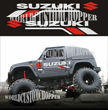ADESIVI DECAL STICKERS FUORISTRADA SUZUKI 4X4 SAMURAI SANTANA OFF ROAD JEEP