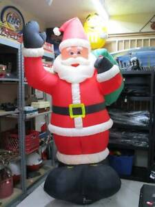 Gemmy Airblown Inflatable 8' Santa Claus Christmas Yard Decore IN THE BOX