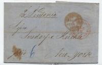 1860 Hamburg to NY transatlantic stampless Hamburg packet [H.430]