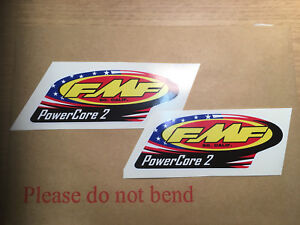 X2 FMF POWERCORE 2 Exhausts motorcycle decals  graphics stickers