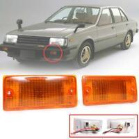 Marker Turn Signal Light White Lens for 81-85 Nissan Sunny Sentra B11 Sedan