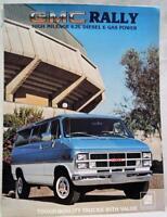 1983 GMC RALLY VAN DEALERS ADVERTISING INFORMATION SALES BROCHURE GUIDE VINTAGE