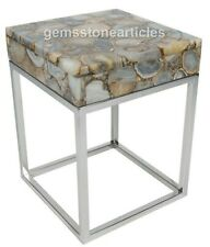 """24"""" Rare Agate Stone Top Beautiful Stand Table Living Room Decor Christmas Gift"""